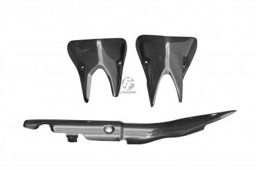 Carbon Auspuffverkleidung für Kawasaki Z1000 2014-2018