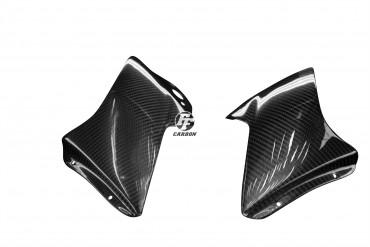 Carbon Cockpitverkleidung Seitenteile für Aprilia RSV 1000R 2004-2009 Carbon+Fiberglas Köper Glossy Carbon+Fiberglas | Köper | Glossy