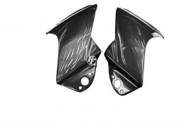 Carbon Cockpitverkleidung Seitenteile für Aprilia RSV 1000R 2004-2009 Carbon+Fiberglas Leinwand Glossy Carbon+Fiberglas | Leinwand | Glossy