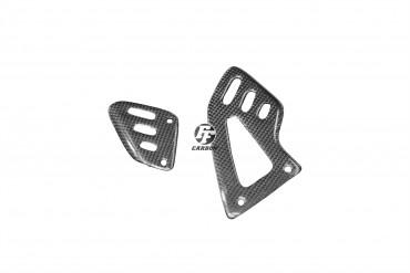 Carbon Fersenschützer für Aprilia RSV4 / Tuono V4R Carbon+Fiberglas Leinwand Glossy Carbon+Fiberglas | Leinwand | Glossy