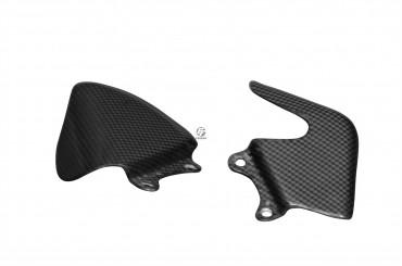 Carbon Heel Guards for MV Agusta Brutale 750 / 910 / 920 / 989R / 990 / 1078R / 1090