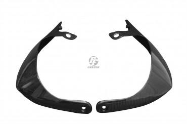 Carbon Handschützer für Aprilia Dorsoduro SMV 750 Carbon+Fiberglas Leinwand Glossy Carbon+Fiberglas | Leinwand | Glossy