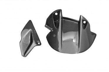 Carbon hinteres Schutzblech und unterer Kettenschutz für Aprilia Dorsoduro SMV 750 Carbon+Fiberglas Leinwand Glossy Carbon+Fiberglas | Leinwand | Glossy