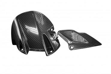 Carbon hinteres Schutzblech und unterer Kettenschutz für Aprilia Dorsoduro SMV 750 Carbon+Fiberglas Köper Glossy Carbon+Fiberglas | Köper | Glossy