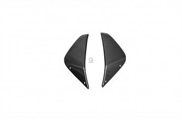 Carbon Kühlerverkleidung für MV Agusta Rivale 800 Carbon+Fiberglas Leinwand Glossy Carbon+Fiberglas | Leinwand | Glossy