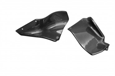 Carbon Motorabdeckung (Luftleiter) für MV Agusta Brutale 750 / 910 / 989R / 1078RR Carbon+Fiberglas Leinwand Glossy Carbon+Fiberglas | Leinwand | Glossy