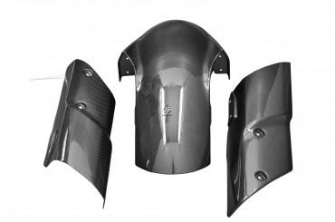 Carbon vorderes Schutzblech mit Seitenteilen für Kawasaki Z1000 2010-2013
