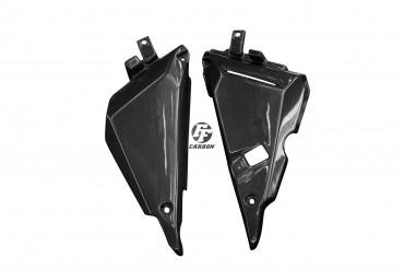 Carbon Seitenverkleidung im Rahmen für Kawasaki Z650 / Ninja 650 2017-2021 Carbon+Fiberglas Leinwand Glossy Carbon+Fiberglas | Leinwand | Glossy