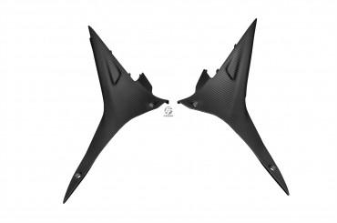 Carbon Seitenverkleidung unter Tank für Aprilia RSV4 / Tuono V4 Carbon+Fiberglas Köper Matt Carbon+Fiberglas | Köper | Matt