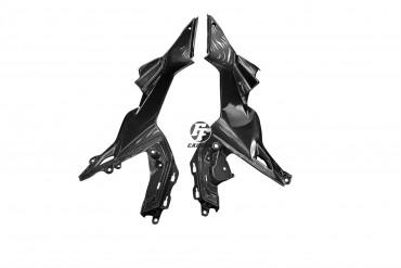 Carbon Seitenverkleidung unter Tank für Kawasaki Z650 Carbon+Fiberglas Leinwand Glossy Carbon+Fiberglas | Leinwand | Glossy