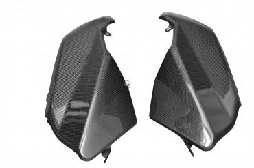 Carbon Seitenverkleidung unter Tank für Aprilia Shiver 2007-2009 Carbon+Fiberglas Leinwand Glossy Carbon+Fiberglas | Leinwand | Glossy
