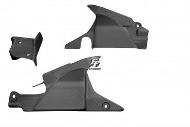 Carbon Seitliche Verkleidung (3 Teile) für Honda VFR 800 V-TEC 2002-2013 Carbon+Fiberglas Köper Matt Carbon+Fiberglas | Köper | Matt