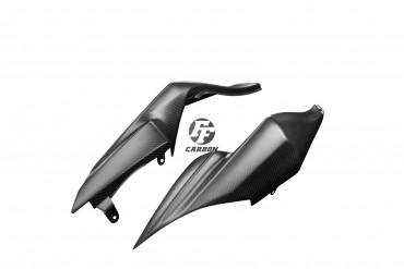 Carbon Sitz Abdeckung Seitenteile für Kawasaki ZX6R 636 2009-2012