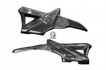 Carbon Seitenverkleidung unter Sitz für BMW K1200R/1300R Carbon+Fiberglas Leinwand Glossy Carbon+Fiberglas | Leinwand | Glossy