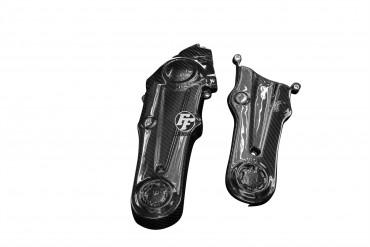 Carbon Zahnriemenabdeckung für Ducati Monster 1100 EVO - Hypermotard 796 / 1100 2010-2013 100% Carbon Köper Glossy 100% Carbon   Köper   Glossy